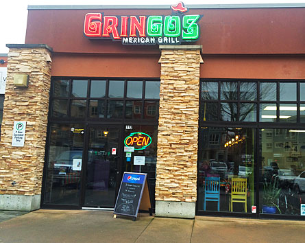 three gringos store front